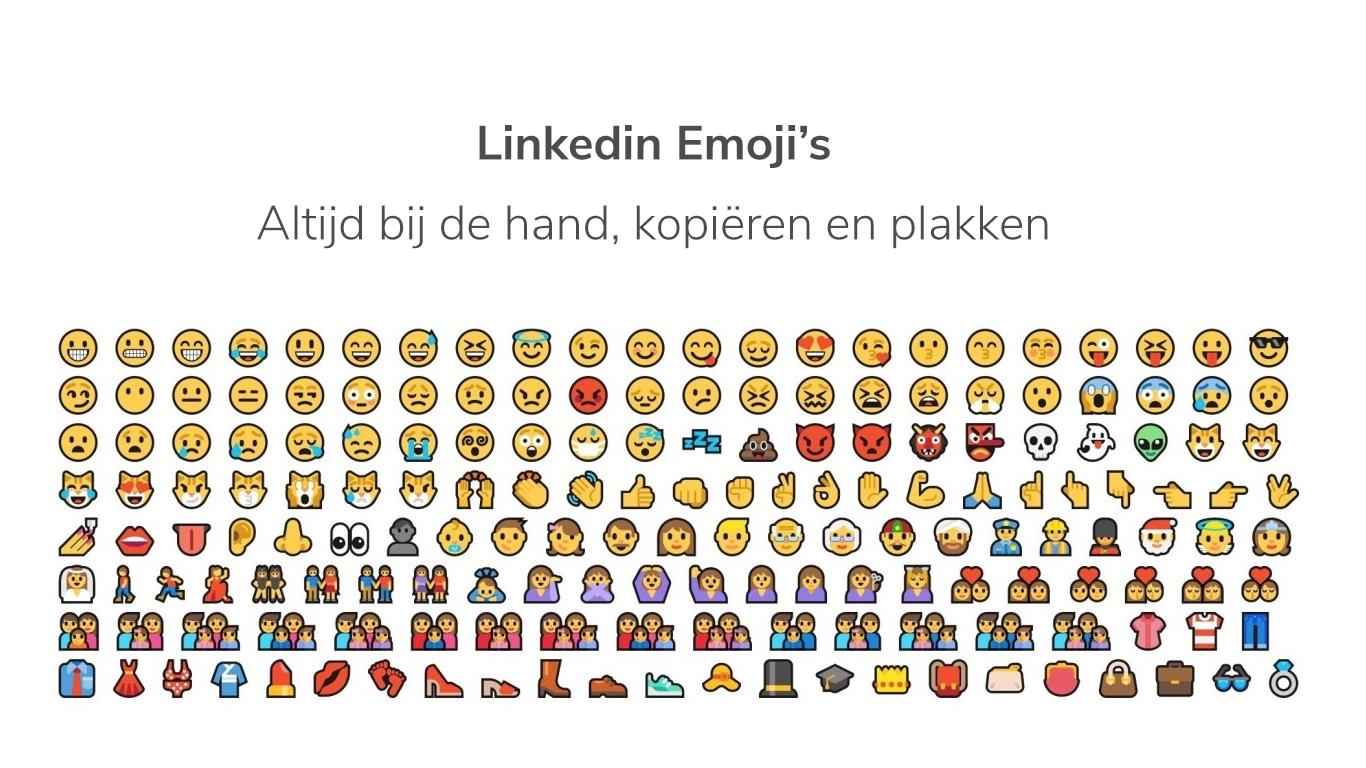 """Altijd je emojis """"emoticons"""" bij de hand."""